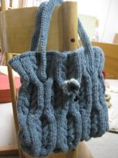 縄編みバッグ