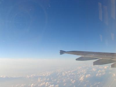帰国の飛行機-2
