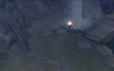 落し物滝の近辺