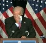 Joe Biden crying