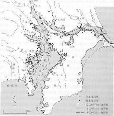 縄文関東海岸線