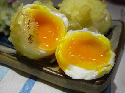 トロトロ半熟卵天!