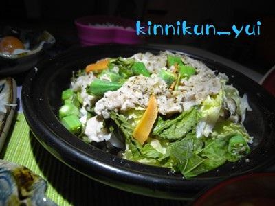 豚肉と野菜のタジン蒸し