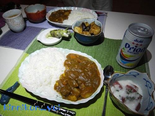 20110814なかじま家の食卓