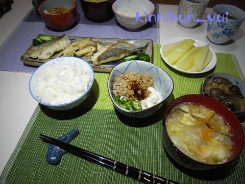 20110831なかじま家の食卓