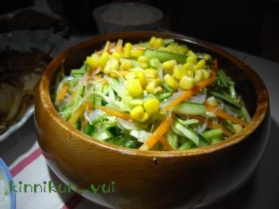 春雨入り生野菜サラダ
