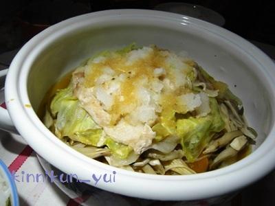豚肉と野菜とキノコの蒸し焼き鍋