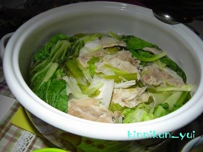 豚肉と白菜の蒸し鍋