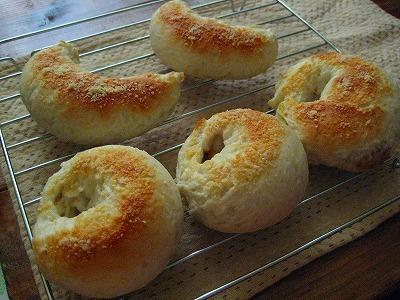 米粉カレーベーグル