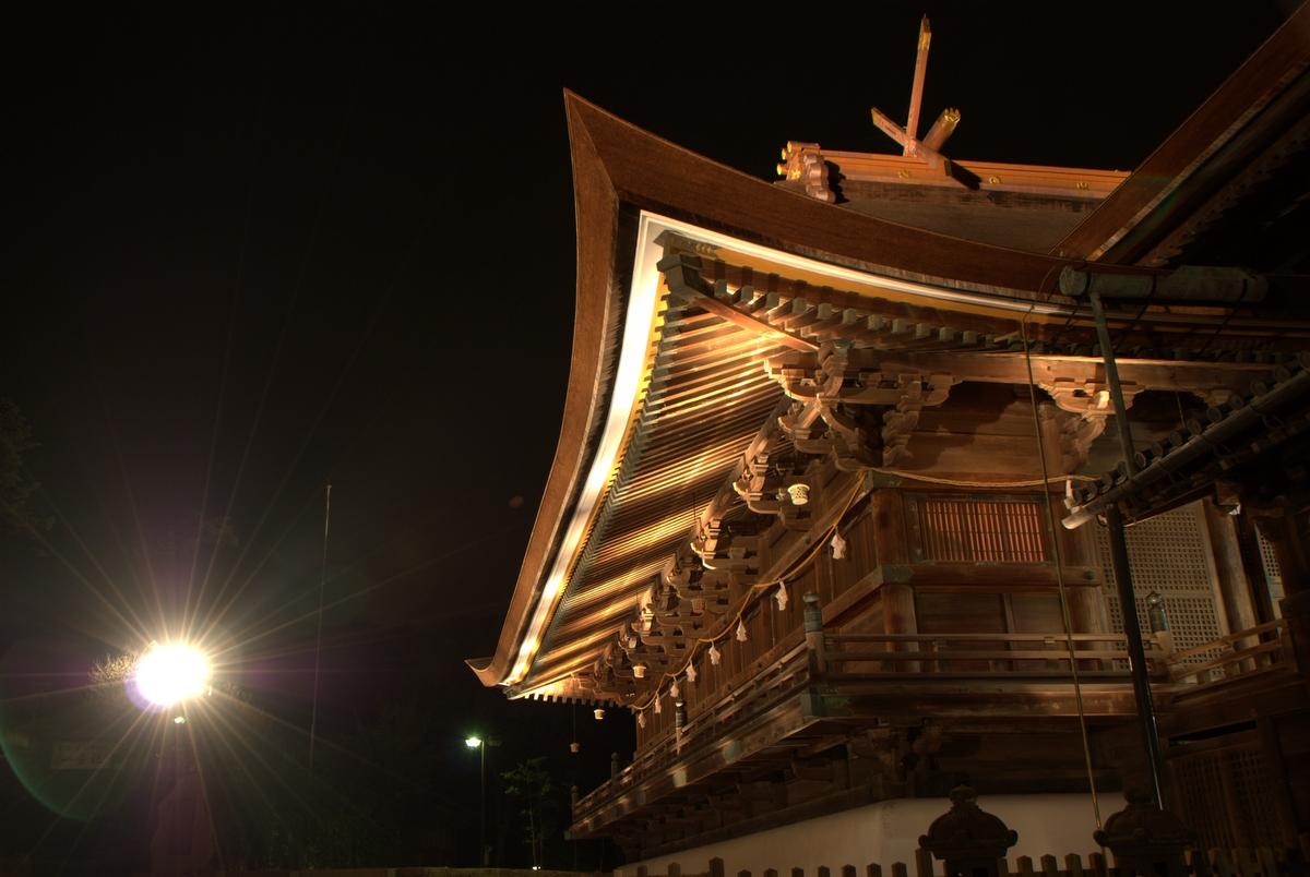 吉備津神社夜
