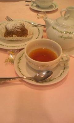 モンブラン・デミとカラメリーゼ(紅茶)@ANGELINA