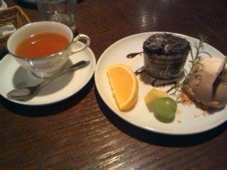 フォンダンショコラとヴァニラチョコレート紅茶