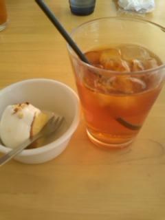 アイスティとデザート@Cafe Cible