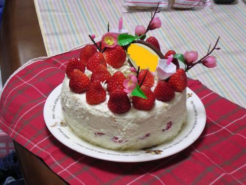 2009年おひなまつりケーキ