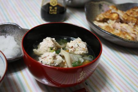 つみれの中華風スープ