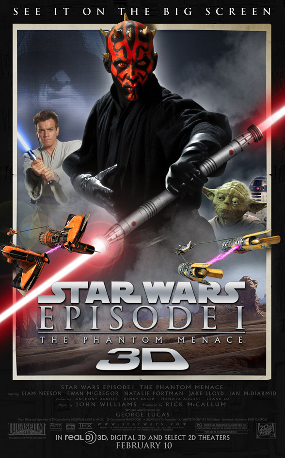 phantom menace 3D poster