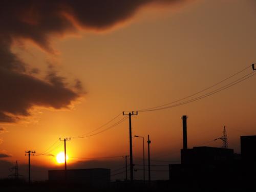 NATURALモードで撮った夕景