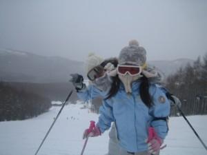 白樺湖スキー2