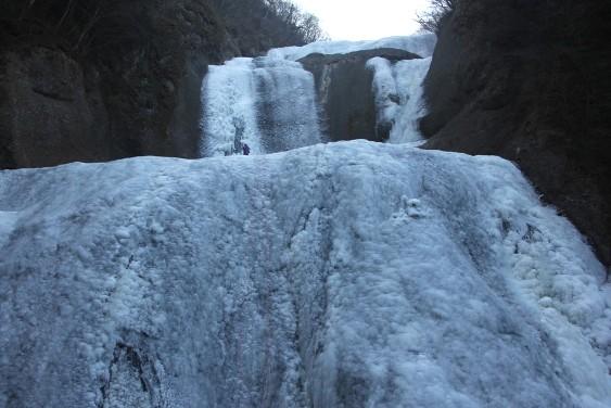 第1観瀑台からの袋田の滝の氷爆