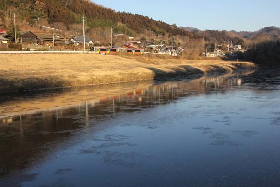 上小川駅下を流れる久慈川