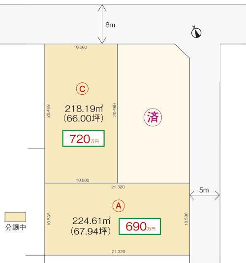 区画図(屯田5条10丁目)