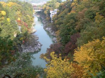 龍角峰からの景色