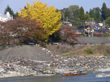 秋の舟下り
