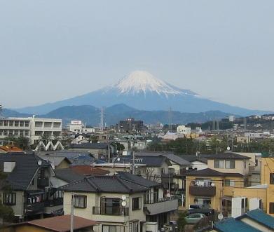 屋上の富士山