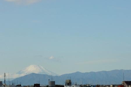 ベランダより・今日の富士山