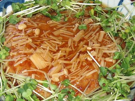 723豆腐と豚ミンチのあんかけハンバーグ