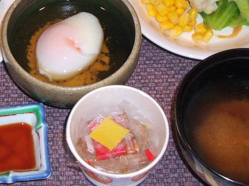 85納豆と温泉卵