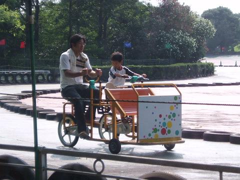 85パパさんと自転車