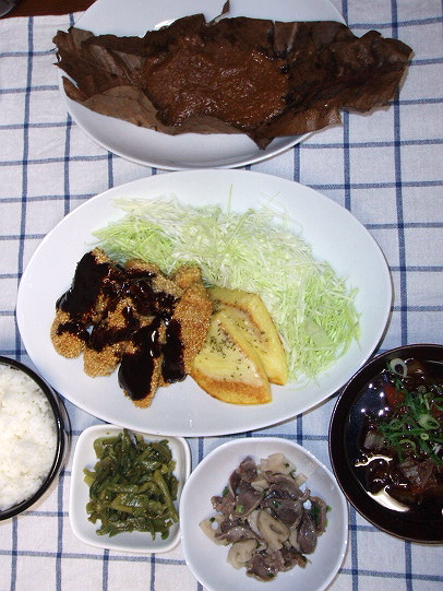 200898頂き物率高い夕ご飯
