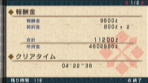 猫火事場双剣×ナルガ亜種(4分23秒捕獲)正式タイム