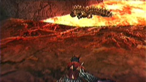 ミニガンキン 溶岩の上1