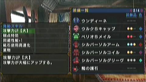 双剣×ティガ亜種(6分38秒)装備詳細