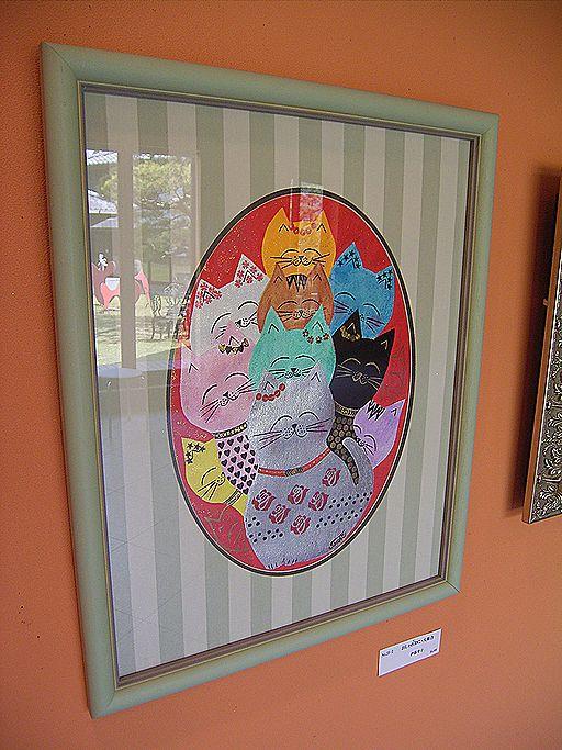 猫ねこ展覧会2009はがき
