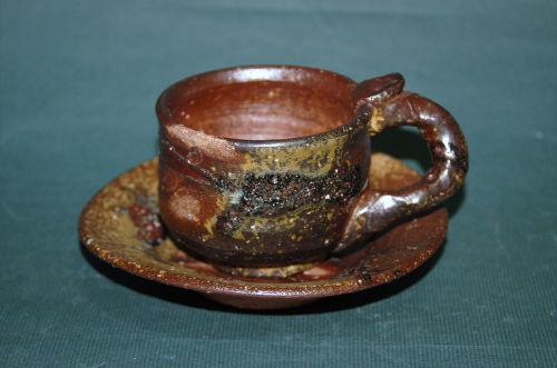 焼き締めコーヒーカップ