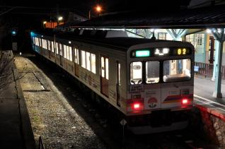2011年1月28日 上田電鉄別所線 別所温泉 1000系1002F 自然と友だち1号