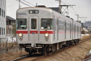 2011年1月29日 長野電鉄屋代線 雨宮~東屋代 3500系O5編成