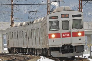 2011年1月29日 長野電鉄長野線 8500系T5編成