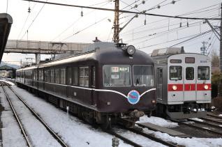 2011年1月29日 長野電鉄長野線 須坂 2000系A編成・8500系T6編成