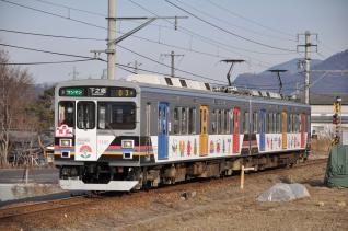 2011年1月29日 上田電鉄別所線 寺下~神畑 1000系1003F 自然と友だち2号
