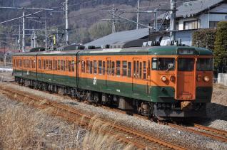 2011年2月21日 JR東日本 信越本線 西松井田~松井田 115系T1030編成
