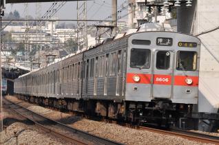 2011年3月25日 東急田園都市線 8500系8606F