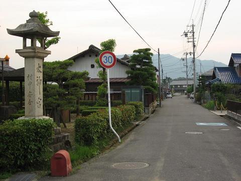 五個荘小幡町の太神宮常夜灯