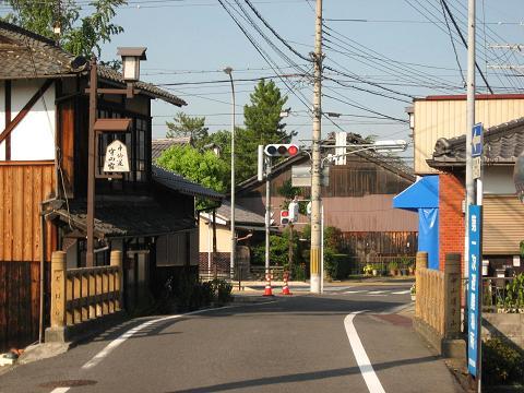 土橋付近の守山宿