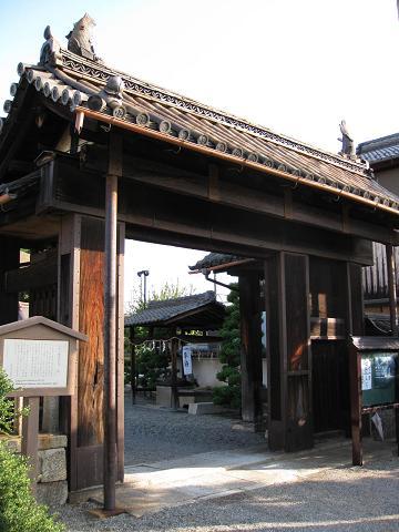 若宮八幡神社表門(旧膳所城犬走り門)