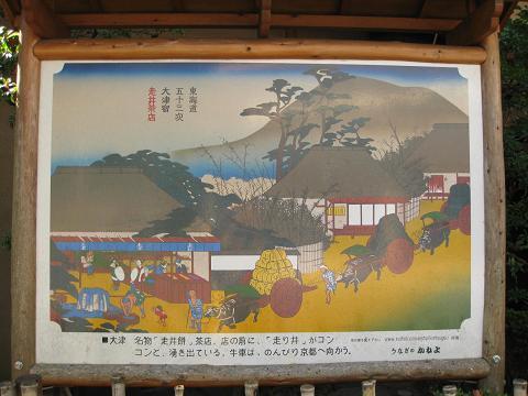 東海道五十三次大津宿「走井茶店」.