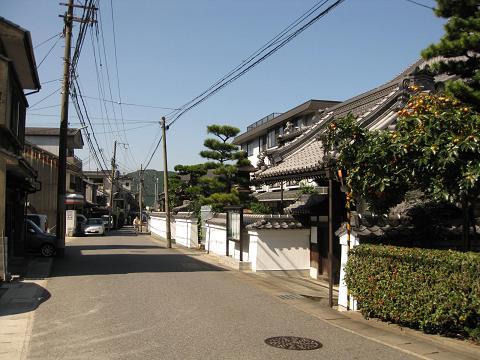 旧東海道・追分町
